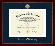Villanova University Diploma Frame - Gold Engraved Medallion Diploma Frame in Sutton