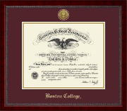 Boston College Diploma Frame - Gold Engraved Medallion Diploma Frame in Sutton