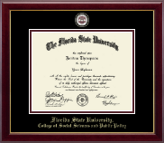 Florida State University Diploma Frame - Masterpiece Medallion Diploma Frame in Gallery