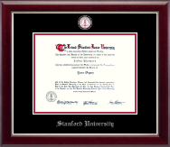 Stanford University Diploma Frame - Masterpiece Medallion Diploma Frame in Gallery Silver