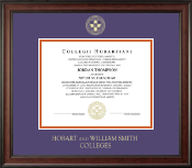 Hobart College Diploma Frame - Gold Embossed Diploma Frame in Studio