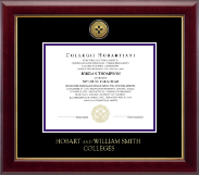 Hobart College Diploma Frame - Gold Engraved Medallion Diploma Frame in Gallery
