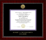 Hobart College Diploma Frame - Gold Engraved Medallion Diploma Frame in Sutton