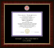 Hobart College Diploma Frame - Masterpiece Medallion Diploma Frame in Murano