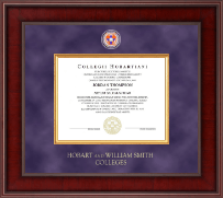 Hobart College Diploma Frame - Presidential Masterpiece Diploma Frame in Jefferson