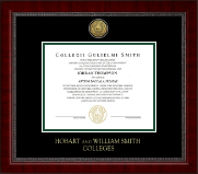 William Smith College Diploma Frame - Gold Engraved Medallion Diploma Frame in Sutton