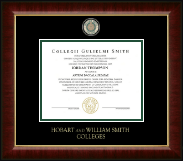 William Smith College Diploma Frame - Masterpiece Medallion Diploma Frame in Murano