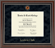 Lewis & Clark College Diploma Frame - Regal Edition Diploma Frame in Chateau