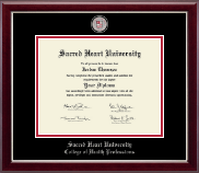 Sacred Heart University Diploma Frame - Masterpiece Medallion Diploma Frame in Gallery Silver