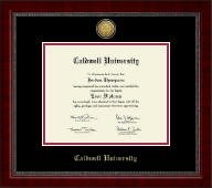 Caldwell University Diploma Frame - Gold Engraved Medallion Diploma Frame in Sutton