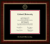 Caldwell University Diploma Frame - Gold Embossed Diploma Frame in Murano