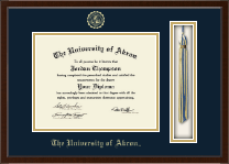 The University of Akron Diploma Frame - Tassel Edition Diploma Frame in Delta
