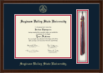 Saginaw Valley State University Diploma Frame - Tassel Edition Diploma Frame in Delta
