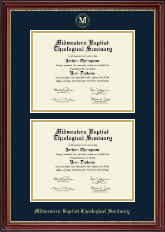 Midwestern Baptist Theological Seminary Diploma Frame - Double Diploma Frame in Kensington Gold
