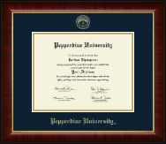 Pepperdine University Diploma Frame - Gold Embossed Diploma Frame in Murano