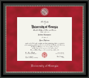 The University of Georgia Diploma Frame - Regal Edition Diploma Frame in Noir