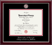 The University of Georgia Diploma Frame - Masterpiece Medallion Diploma Frame in Gallery Silver