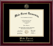 Wake Forest University Diploma Frame - Masterpiece Medallion Diploma Frame in Gallery