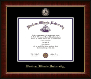 Western Illinois University Diploma Frame - Masterpiece Medallion Diploma Frame in Murano