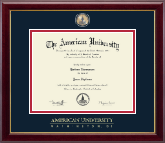 American University Diploma Frame - Masterpiece Medallion Diploma Frame in Gallery