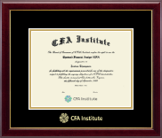 Certified Financial Analyst Certificate Frame - Gold Embossed Certificate Frame in Gallery