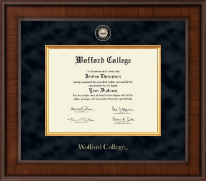Wofford College Diploma Frame - Presidential Masterpiece Diploma Frame in Madison