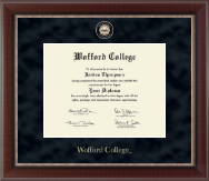 Wofford College Diploma Frame - Regal Edition Diploma Frame in Chateau