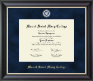 Mount Saint Mary College Diploma Frame - Regal Edition Diploma Frame in Noir