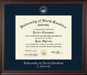 University of North Carolina Asheville Diploma Frame - Gold Embossed Diploma Frame in Studio