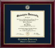 Quinnipiac University Diploma Frame - Masterpiece Medallion Diploma Frame in Gallery