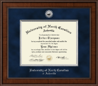 University of North Carolina Asheville Diploma Frame - Presidential Silver Engraved Diploma Frame in Madison