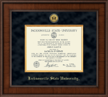 Jacksonville State University Diploma Frame - Presidential Gold Engraved Diploma Frame in Madison