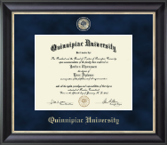 Quinnipiac University Diploma Frame - Regal Edition Diploma Frame in Noir