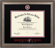 Washington & Jefferson College Diploma Frame - Dimensions Diploma Frame in Easton