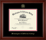 Washington & Jefferson College Diploma Frame - Gold Embossed Diploma Frame in Cambridge