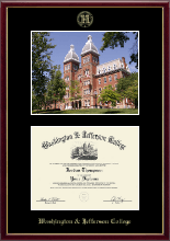 Washington & Jefferson College Diploma Frame - Campus Scene Diploma Frame in Galleria