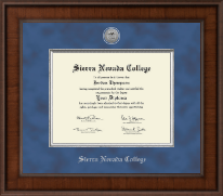 Sierra Nevada College Diploma Frame - Presidential Silver Engraved Diploma Frame in Madison