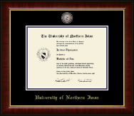 University of Northern Iowa Diploma Frame - Masterpiece Medallion Diploma Frame in Murano