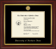 University of Northern Iowa Diploma Frame - 23K Medallion Diploma Frame in Redding
