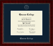 Queens College Diploma Frame - Silver Embossed Diploma Frame in Sutton