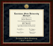 Louisiana State University School of Medicine Diploma Frame - Gold Engraved Medallion Diploma Frame in Murano