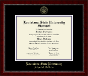 Louisiana State University School of Medicine Diploma Frame - Gold Embossed Diploma Frame in Sutton
