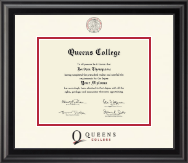 Queens College Diploma Frame - Dimensions Diploma Frame in Midnight