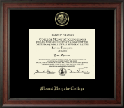 Mount Holyoke College Diploma Frame - Gold Embossed Diploma Frame in Studio