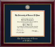 University of Texas at El Paso Diploma Frame - Masterpiece Medallion Diploma Frame in Gallery