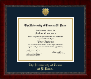 University of Texas at El Paso Diploma Frame - Gold Engraved Medallion Diploma Frame in Sutton