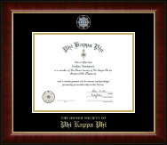 Phi Kappa Phi Honor Society Certificate Frame - Masterpiece Medallion Certificate Frame in Murano