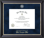 Phi Kappa Phi Honor Society Certificate Frame - Regal Edition Certificate Frame in Noir