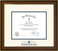 Phi Kappa Phi Honor Society Certificate Frame - Dimensions Certificate Frame in Westwood