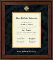 Mary Baldwin University Diploma Frame - Presidential Gold Engraved Diploma Frame in Madison